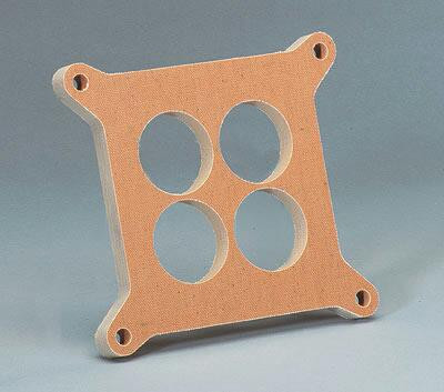 Vergaser Distanzplatte, 1/2″ dick, 4 Löcher, Square Bore, Phenolic Plastik