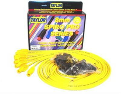 Spark Plug Wire Set - Universal 8mm Spiro Pro Yellow