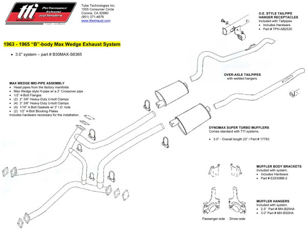 Exhaust System 3″ Max Wedge