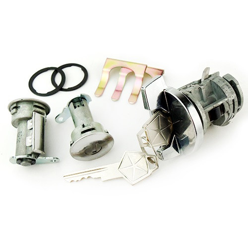 Ignition and door lock set, 66-68 A-/B-Body, reproduction