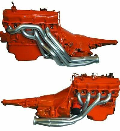 Headers SBM 318 Poly C-Body 65-66 polished ceramic coated outside