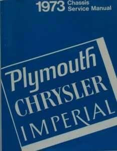 Service Manual 73 Plymouth