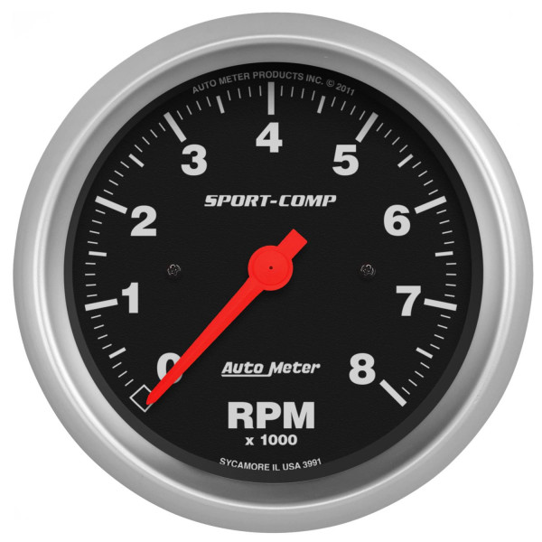 Gauge, Tachometer Sport-Comp Series 3-3/8″ In-Dash electric