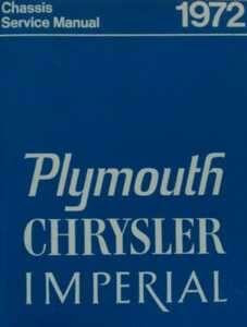 Service Manual 72 Plymouth