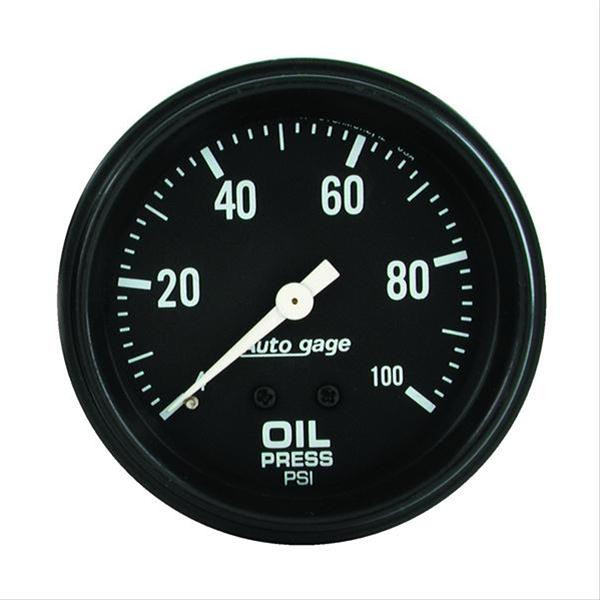Gauge, Oil Pressure Auto Gage Series 2-5/8″ mechanical