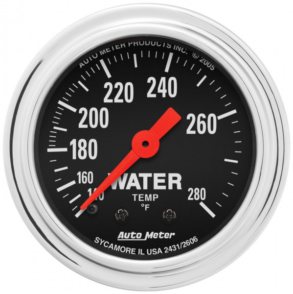 Gauge, Water Temperature Traditional Chrome Series 2-1/16″ mechanical