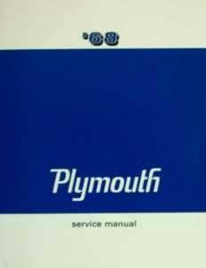 Service Manual 68 Plymouth