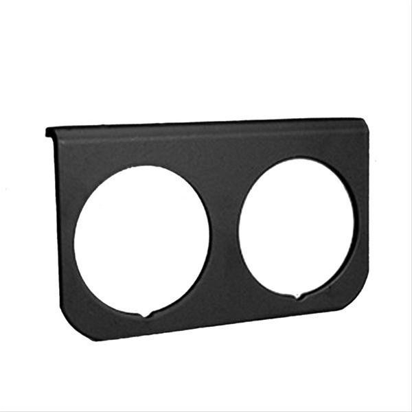 Gauge Mounting Panel, Dual, Black Series 2-5/8″