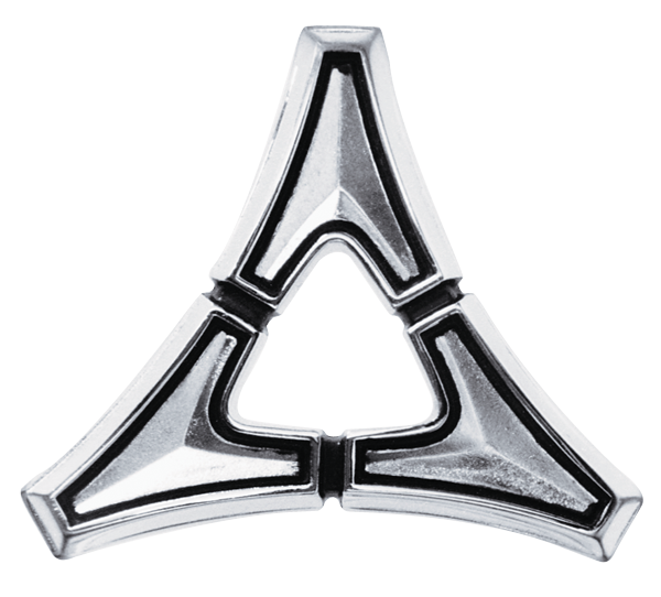 Emblem ″Dodge″ 67-69 Dart 2 door coupe sail panel Tri-Star
