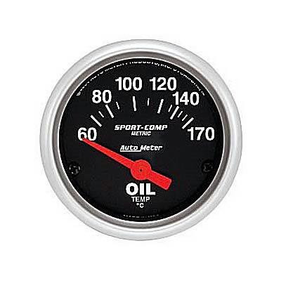 Gauge, Oil Temperature Sport-Comp Series 2-1/16″ electrical