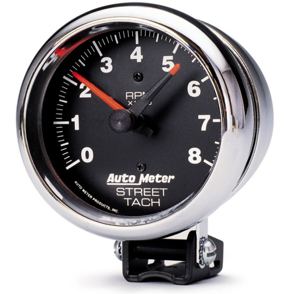Gauge, Tachometer Traditional Chrome Series 3-3/4″ 8,000 RPM electric