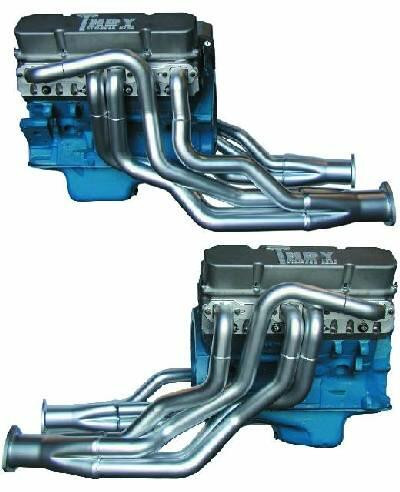 Headers A-/B-/E-Body BBM 440 2-1/8″ Raised-Deck Step Version polished ceramic coated out- & inside